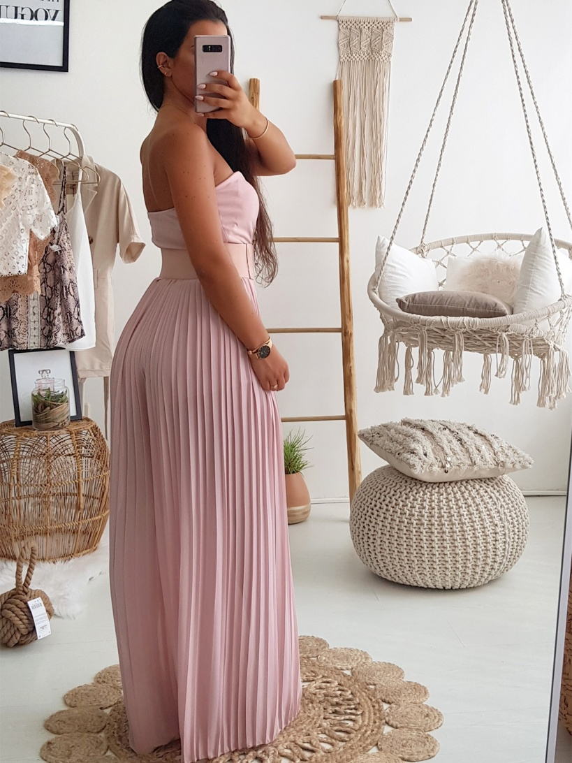 Pleated Jumpsuit Pink