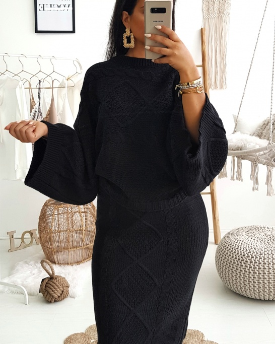 Black Co-ord Knit