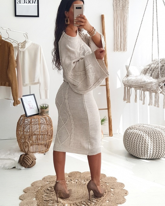 Beige Co-ord Knit