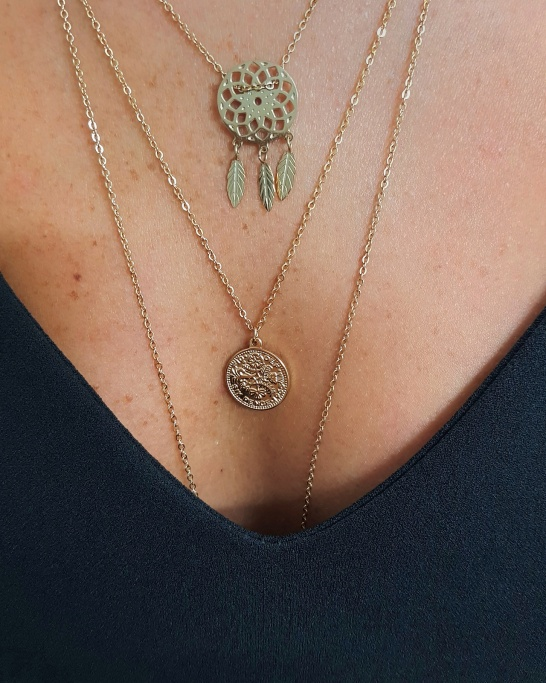 Dream Catcher Necklace (Stainless Steel)