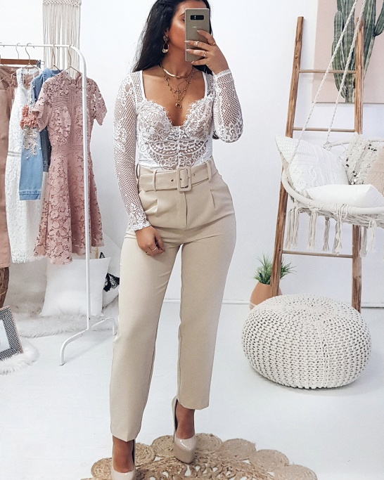 TROUSERS 'MADMOISELLE'  BEIGE