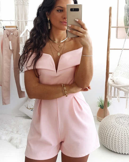 PLAYSUIT 'ESTHER' PINK
