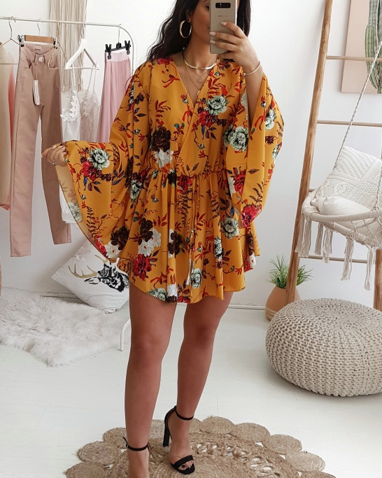 PLAYSUIT 'JAPÃO' YELLOW