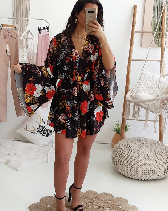 PLAYSUIT 'JAPÃO' BLACK