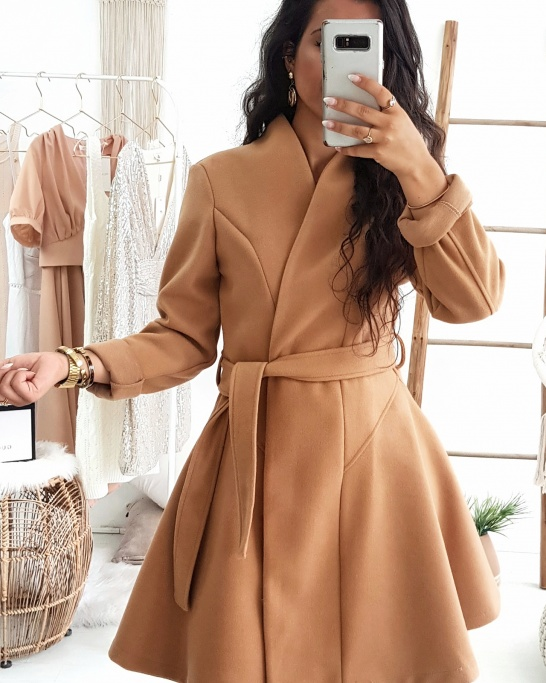 COAT 'LIKE DRESS' CAMEL