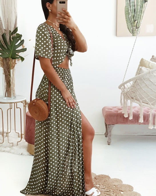 VESTIDO 'SAMBA' IN GREEN