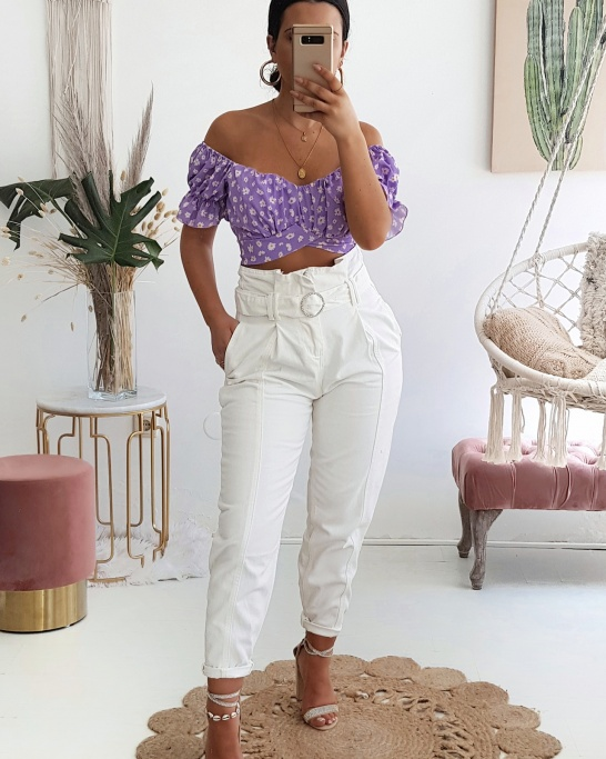 CALÇA 'SLOUCHY JEANS' IN WHITE