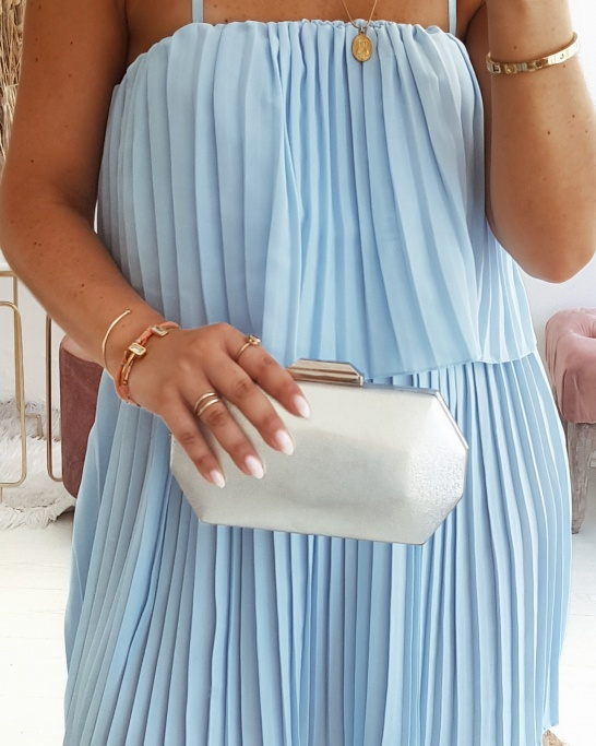 CLUTCH 'ANN MARIE' IN SILVER