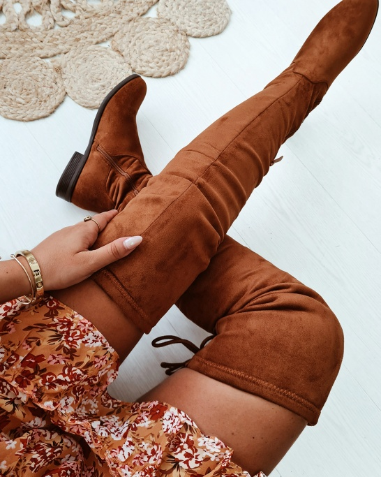 BOTA 'OVERTHEKNEE' RASA IN CAMEL