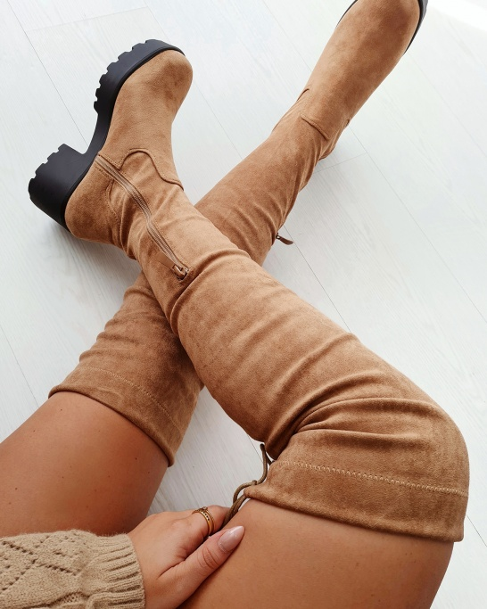 BOTA 'ANNIE' IN TAUPE