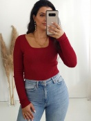 CAMISOLA 'MIU' CROPPED BORDEUX