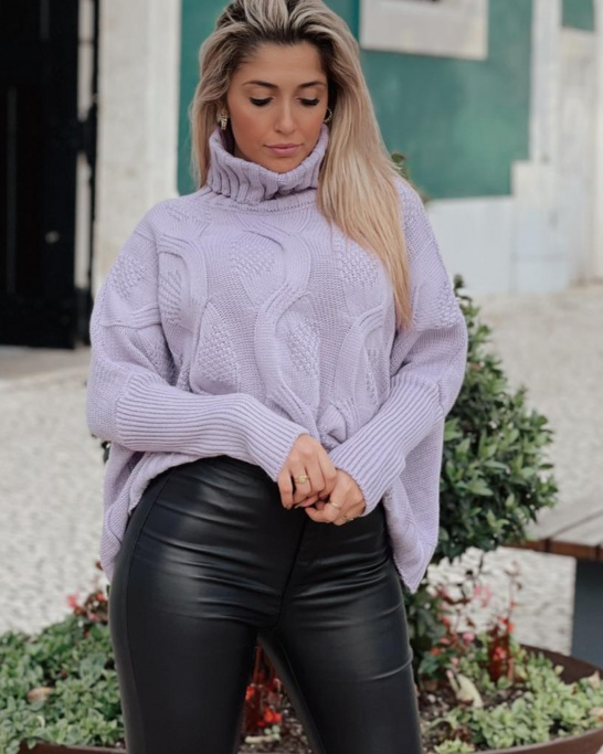 JUMPER 'WEAR FOR THE HOLIDAYS' IN LILAC
