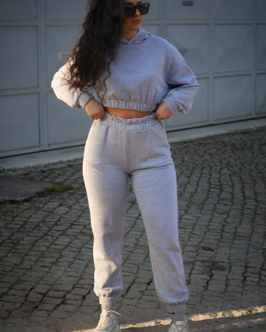 TRACKSUIT WITH HODDIE AND JOGGER IN GREY