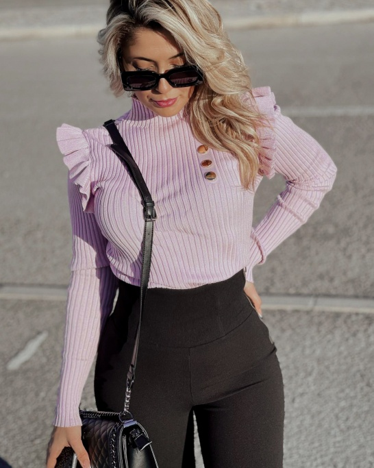 CAMISOLA 'CARDI' IN LILAC