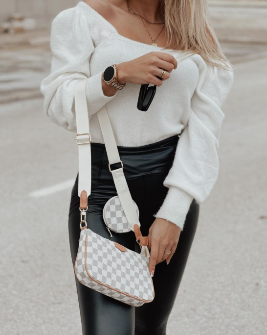 CROSSBODY BAG' IN WHITE