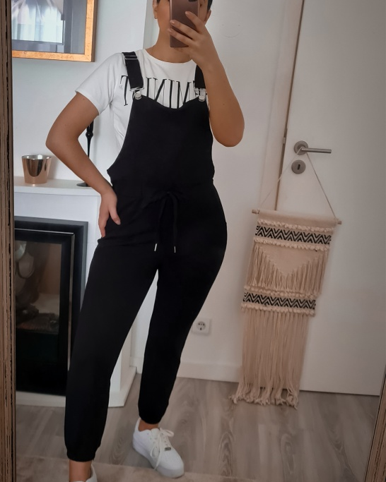DUNGAREES 'CANDLE' IN BLACK