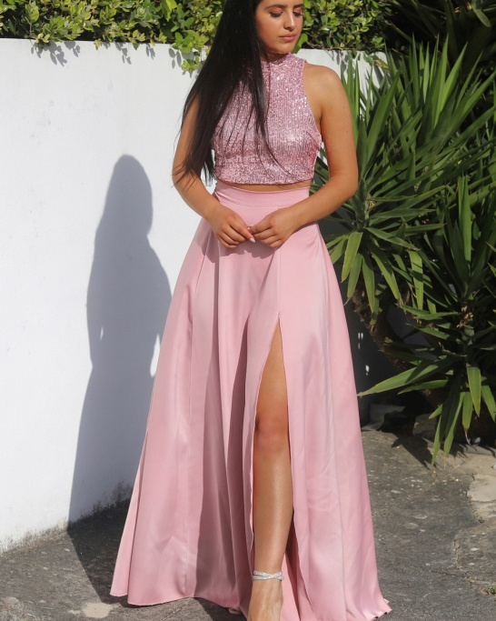 KTL - CO-ORD 'MOONS AND STARS' IN PINK