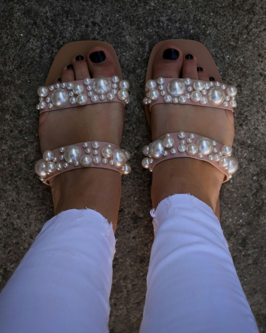 SANDÁLIA 'PEARLS' IN PINK