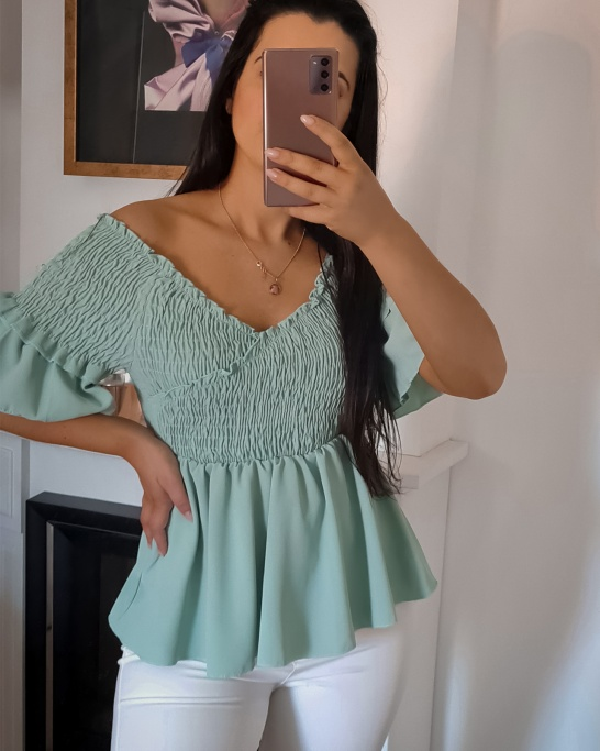 TOP 'I LIKE YOU' IN TURQUOISE