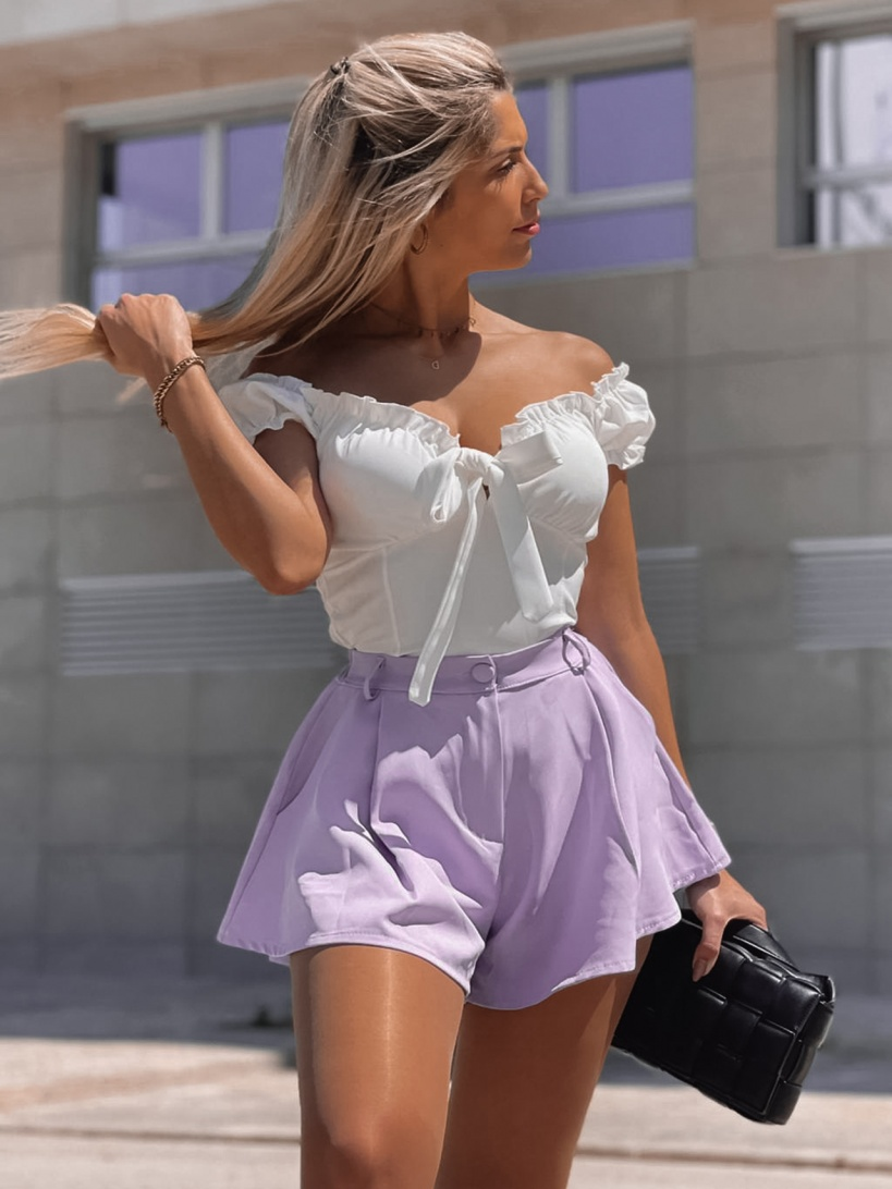 SHORTS 'ANDREA' IN LILAC