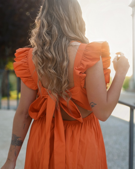 VESTIDO 'BEACHES' IN ORANGE