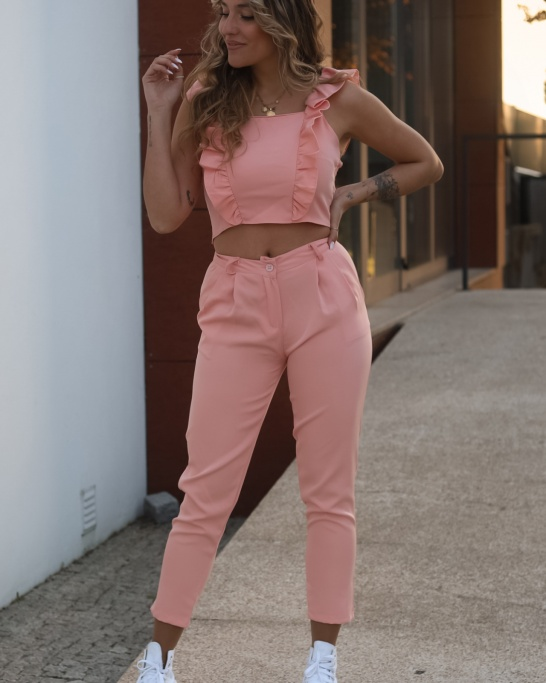 CO-ORD  'YOUR MISTAKE' IN SALMON COLOUR