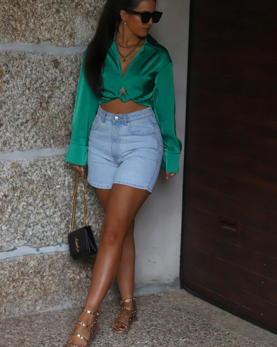 BLUSA 'ONLY NEED YOU' IN GREEN